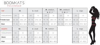 Wear Size Chart Size Chart Boomkats Com