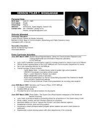 Biodata Samples For Job Templates Memberpro Co Application Letter