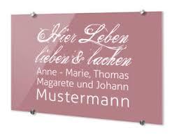 Details Zu Türschilder Für Haustür Mit Namen Spruch Hier Leben Lieben Lachen Wunschnamen