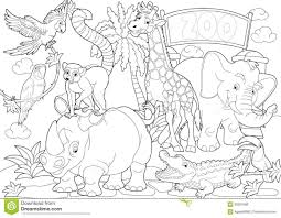 Small Picture Pages Page Of Animals Free Pages Zoo Printable Design Coloring Zoo
