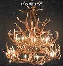 elk 18 cast antler chandelier