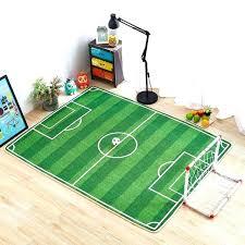 carpet football rug for kids bedroom baby nursery floor idea with fl area on wood room soccer rugs baby football