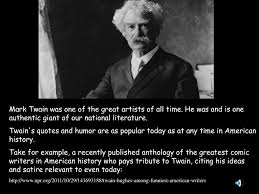 Ppt Mark Twain Powerpoint Presentation Id6112163
