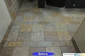a standard commercial bathroom you see every day in malls and department s did you know a lot of times the grout isn t really a black color