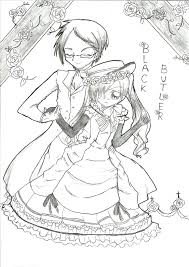 black butler ciel and sebastian by hinaichigo6 d4ihh71 coloring page