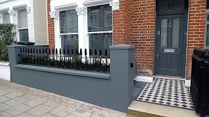 Front Garden Brick Wall Designs Stunning Front Wall Designs For Homes HungryBuzz