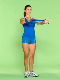Image result for resistance loop band arm exercises
