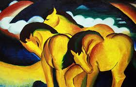 franz marc painting franz marc small yellow horses reion by judith groeger