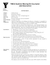 Ymca Resume Examples Summer Camp Counselor Resume Nyc Sales Counselor Lewesmr 5