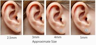 Stone Size Chart Earring Stud Sizes Lamevallar