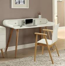 view larger gallery vega laptop desk in white ash wood veneer finish with drawers