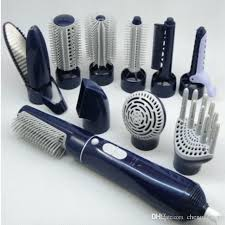 in 1 hot air hair 2 sd pro straightener curlers iron dryer brush set electric styling
