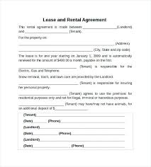 Basic Rental Agreement Template Home A Business Template Free One Page Rental Agreement