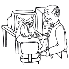 Computer Coloring Pages Coloringrocks