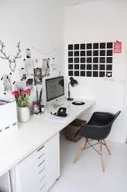 office inspiration. clean and simple dream studio love the chalkboard calendar painted on wall minimalist black white workspace office inspiration