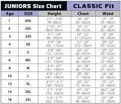 Juniors Xs Size Chart Sizing Charts For Sun Protection Clothing And Sun Hats