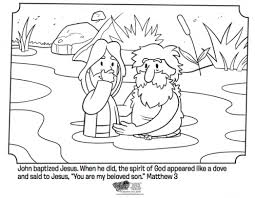 Jesus Is Baptized Bible Coloring Pages Bible Coloring Pages