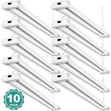 Led Shop Lights 10 Pack 42w Linkable Led Shop Lights Addlon 4ft 48 Inch 5000k Led Garage Lighting 300w Equivalent Double Integrated Florescent Light Fixture With