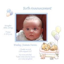 Boy Or Girl Baby Announcement Baby Card A6g Girl Birth Announcement Buy Personalised
