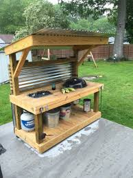 weber grill with side table fresh weber kettle homemade cart table contemporary ideas