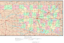 download map of oklahoma counties major tourist attractions maps