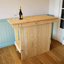 wooden portable bar table