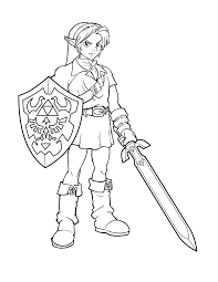 Ink Link From Zelda By Charfade Cool Things Coloring Pages For