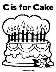 Small Picture 84 best cake coloring pages images on Pinterest Drawings