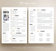 Professional Resume Template Clean Modern Resume Template 1 2