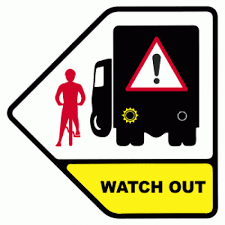Watch Out Warning Cyclists Beware When Vehicle Is Turning Left Do Not Pass On This Side Sign