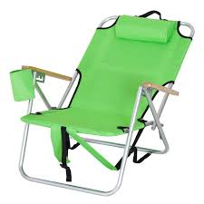outdoor camping chair. Outsunny Aluminum Outdoor Folding Reclining Camping Chair Backpack Portable Picnic Seat W/ Headrest And Cup