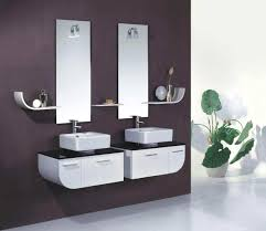 bathroom modern vanities. Double Vanity With Customized Shape In Black And White Combination For Modern Ideas: Bathroom Vanities D