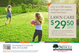 lawncare ad marketing promotions swingle landscape lawn care tree service