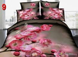 hot cherry blossom peach blossom 3d bedding set queen size comforter duvet quilt cover bed sheet comforter bedspread duvet covers twin bedding