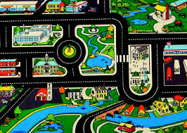 toy car rug road