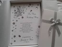 luxury wedding day celebration card handmade pe folksy Handmade Wedding Cards For Daughter And Son In Law luxury wedding day celebration card handmade personalised boxed keepsake Anniversary Son and Daughter in Law