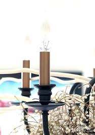 chandeliers candle sleeves for chandelier parts covers lamp how to paint a quick and beautiful