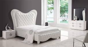 Bedroom Furniture Design Bed Sets Contemporary White Gloss Bedroom ...