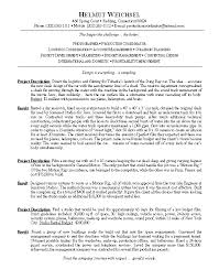 Photography Resume Example Examples Of Resumes