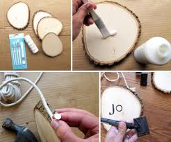 DIY Stamped Wood Christmas Ornaments