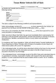 Dreaded Bill Of Sale Texas Template Ideas Form Car Printable