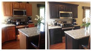 Dark Chocolate Milk Painted Kitchen Cabinets General Finishes