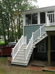 Outdoor Staircase exterior gorgeous small front porch decoration using white wood 8937 by xevi.us