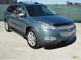 2009 Silver Moss Metallic Chevrolet Traverse LTZ #44203964 ...