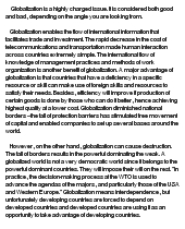 economic globalization good or bad at com essay on economic globalization good or bad