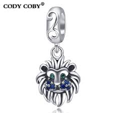 2018 cody coby new original 925 sterling silver lion head pendant charm beads fit pandora bracelets for women gift jewelry from diycharmjewelry