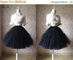 black tulle skirt knee tulle skirt bachelorette tutu elastic plus size tutu skirt wedding party photo prop occasion skirt 6 layer 2401549