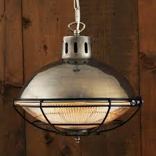 marlow rustic industrial metal ceiling pendant light in antique silver