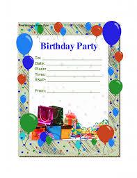 Free Templates For Invitations Birthday Birthday Invitation Balloon Birthday Party Invitation Template 24