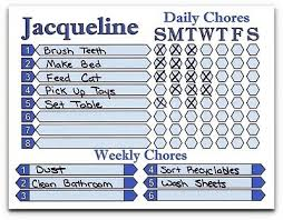 Allowance Chore Chart Use As Dry Erase Board You Choose